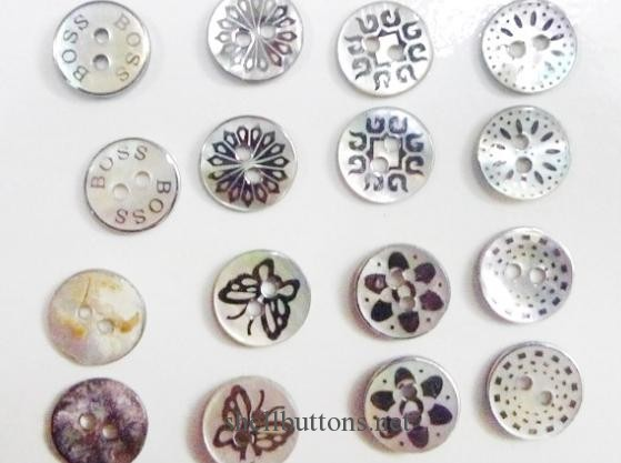 engraved shell buttons for sale