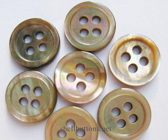 brown MOP buttons in bulk