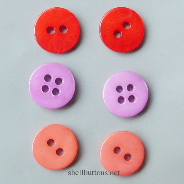 coloured shell buttons wholesale