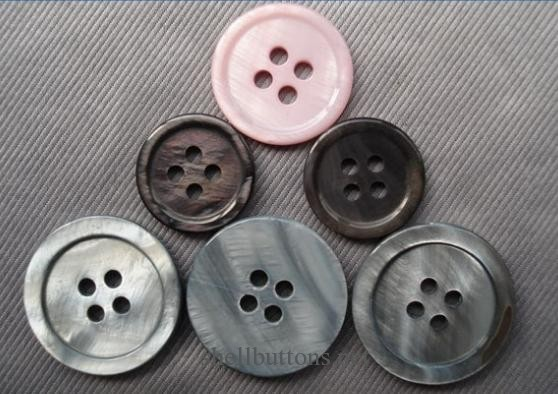painted printed pink shell buttons wholesale