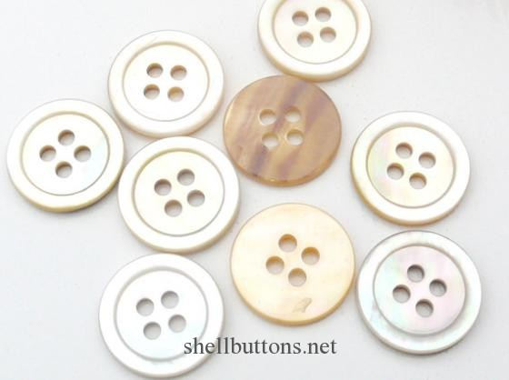 assorted mother of pearl buttons for sale