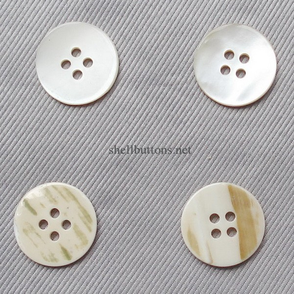 single white river shell buttons wholesale