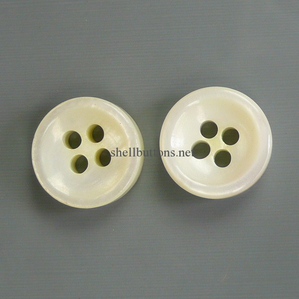 natural white shell buttons for garments