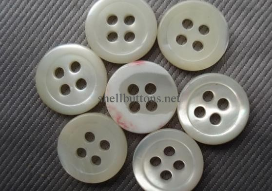 natural white trocas shell buttons for garments
