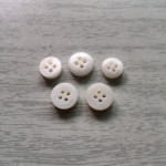 plat face 4 holes 3mm thickness double white river shell buttons