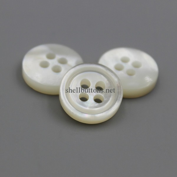 hot sale thicken double white MOP buttons