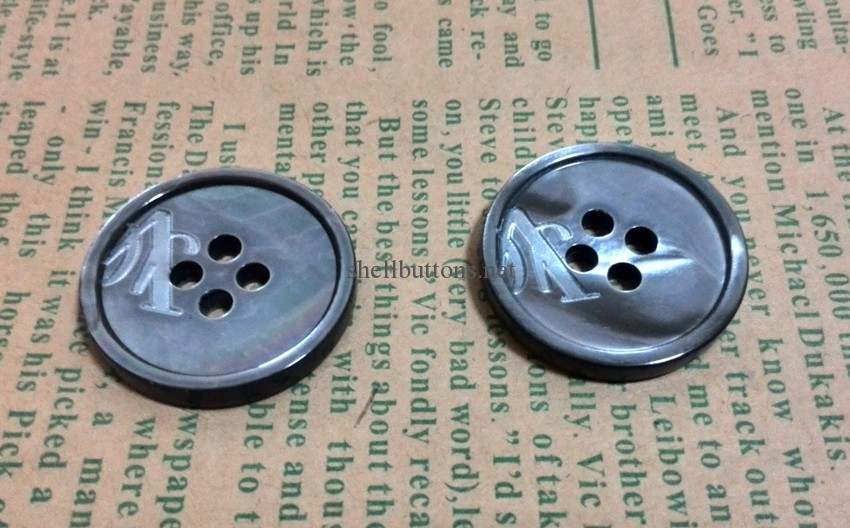 laser black MOP shell buttons wholesale