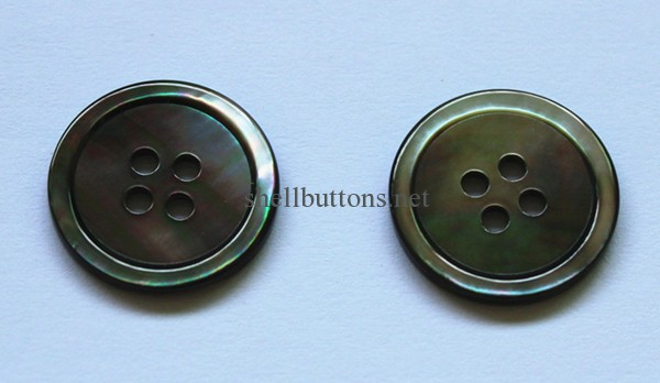32L/20mm black MOP shell buttons for suits