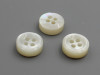 R-side double white MOP shell buttons
