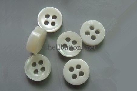 4mm thicken nest surface trocas shell buttons