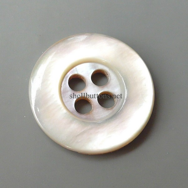 White white MOP shell buttons wholesale