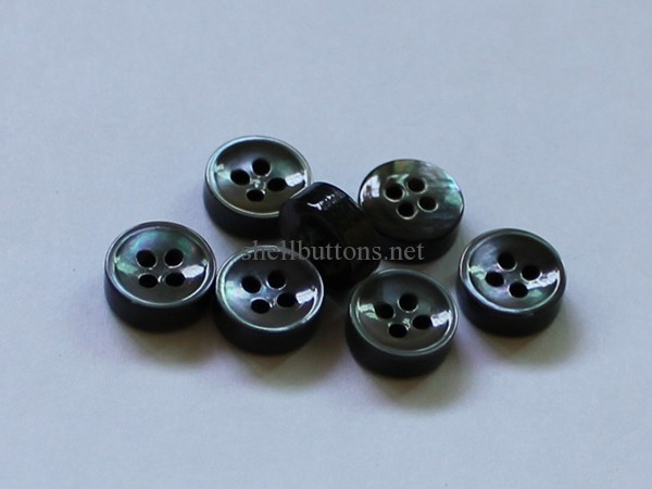 smoke MOP buttons with concave face