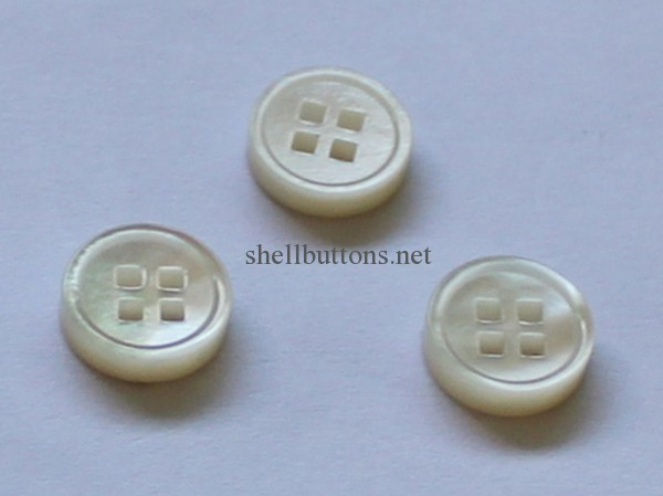 square holes mother of pearl shell buttons