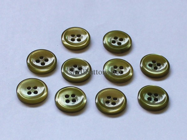 green color trocas shell buttons wholesale