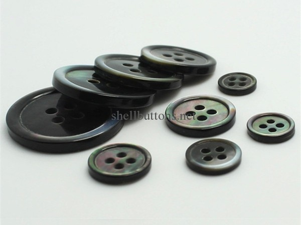 black mother of pearl buttons