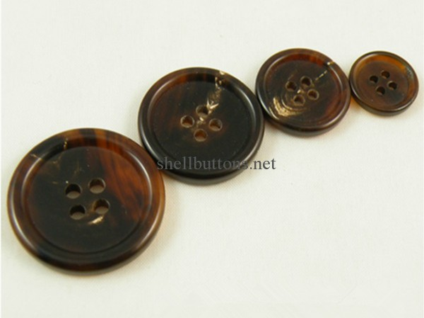 brown horn buttons wholesale