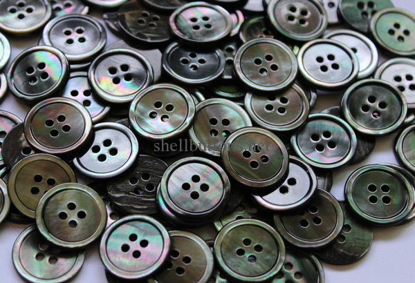 mother of pearl buttons black 20mm