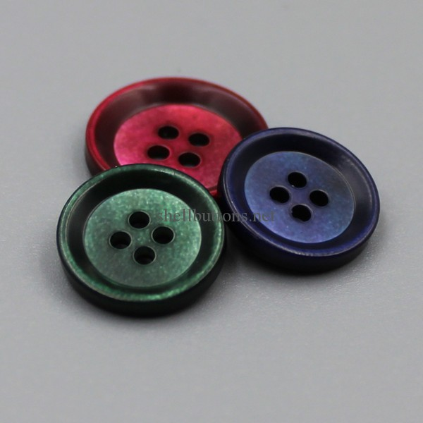 dyed mother of pearl button shell buttons with matte finish