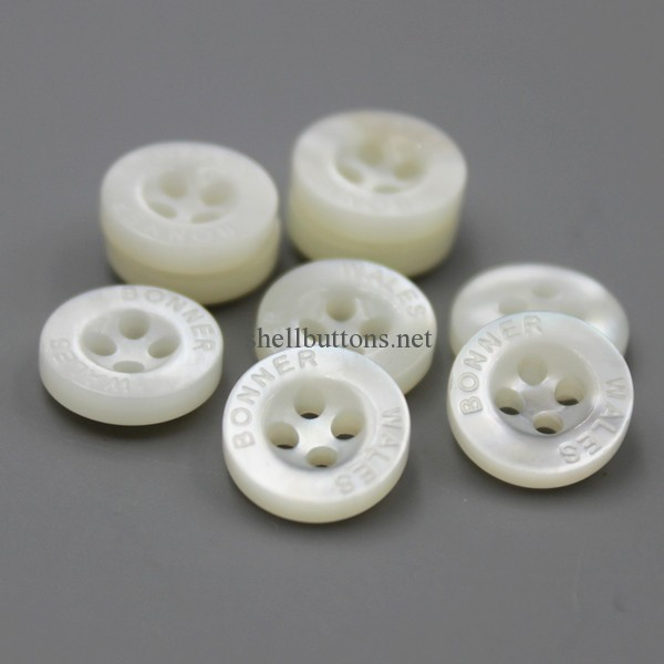 4 hole white mother of pearl engraved buttons mop buttons