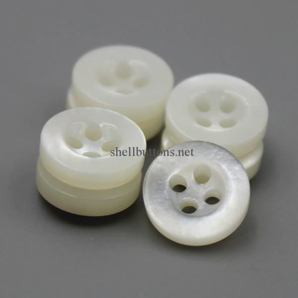 10mm/16L white mother of pearl shirt buttons wholesale