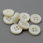 3mm 18L/16L double white river shell shirt buttons wholesale