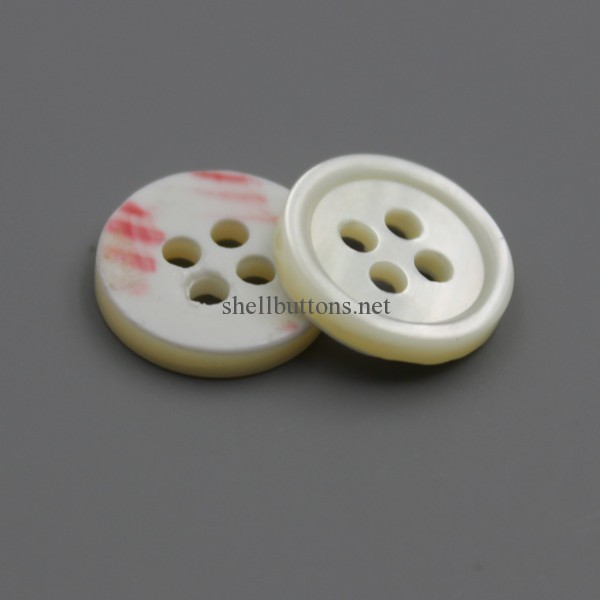 natural cream color ivory trocas shell buttons bulk