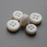 4mm thickness natural white river shell buttons