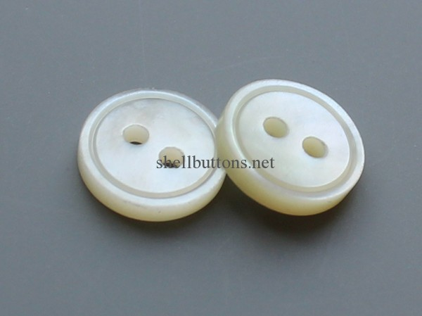two holes new white mother of pearl buttons