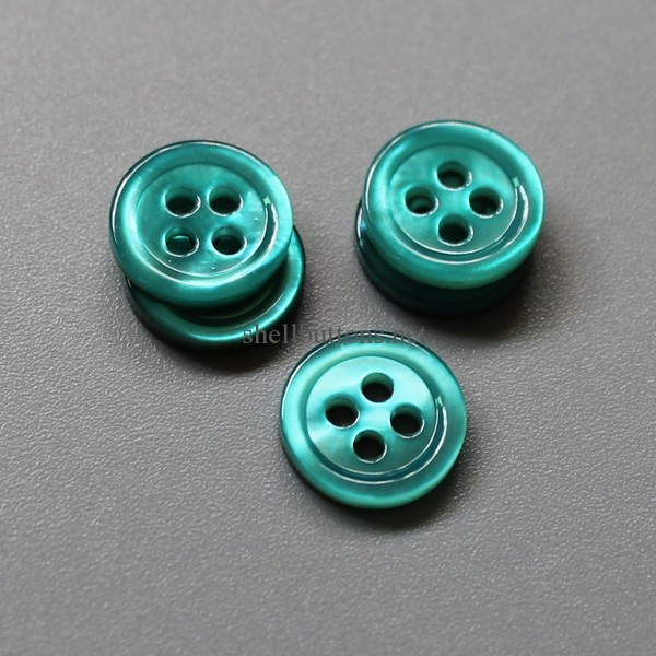 blue shell button blue mother of pearl buttons