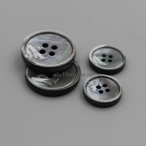 Genuine Shell Buttons with logo laser engraved