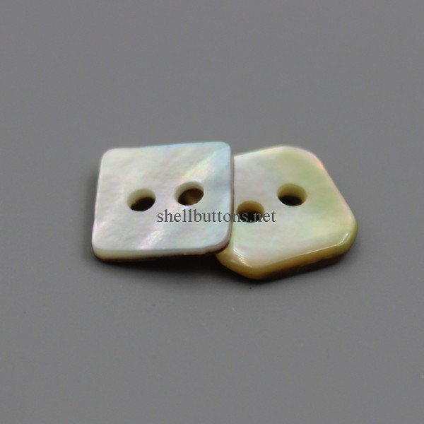 2 holes square agoya shell buttons