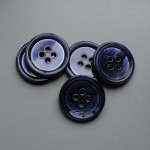 blue 4 hole mop buttons blue mother of pearl buttons