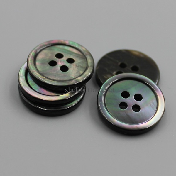 mens suit buttons black mother of pearl buttons