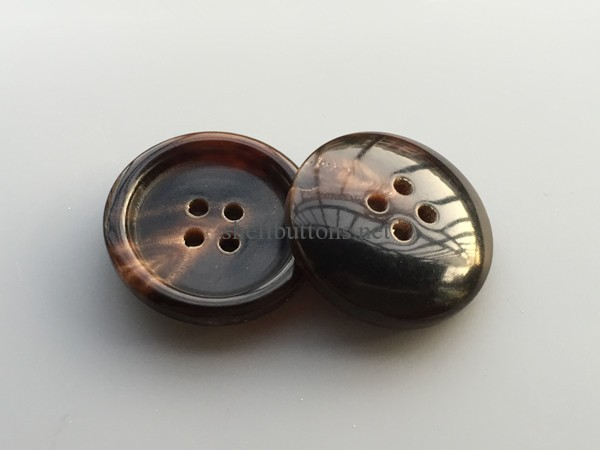 coffee color brown color real horn buttons