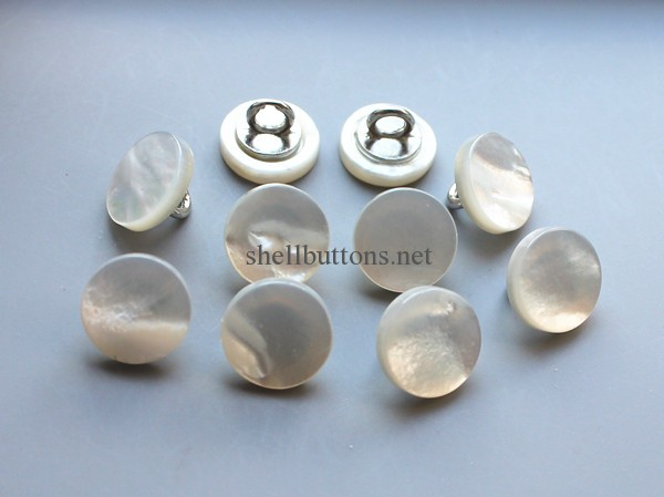new fashion white mother of pearl buttons with shank