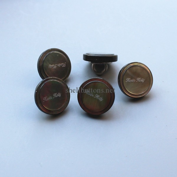 shell shank buttons with logo
