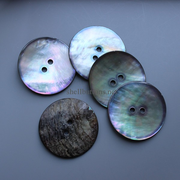 smoke grey agoya shell buttons