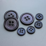 dyed shell buttons in matt finish