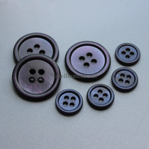 dyed shell buttons in matt finish