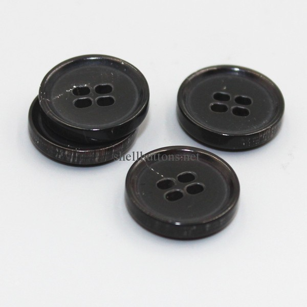 4 holes natural horn buttons wholesale