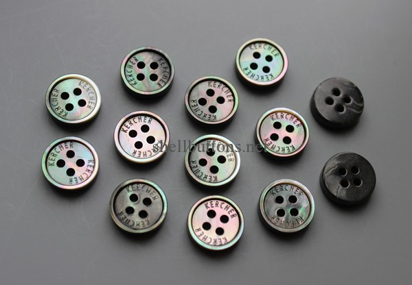 small rim black mother of pearl buttons