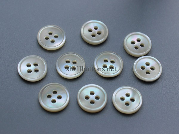 small rim white trocas shell buttons wholesale