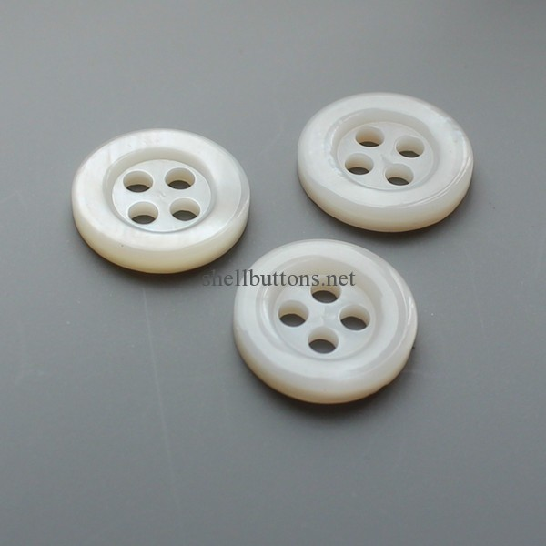 white shirt river shell buttons wholesale