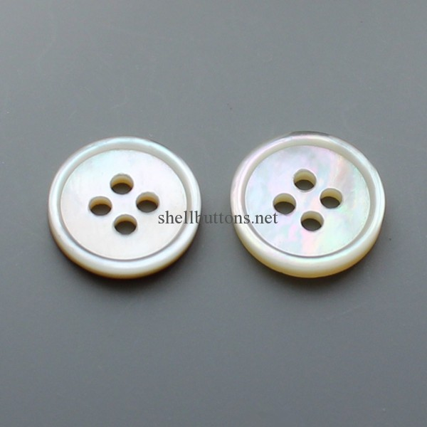 white mother of pearl shirt buttons