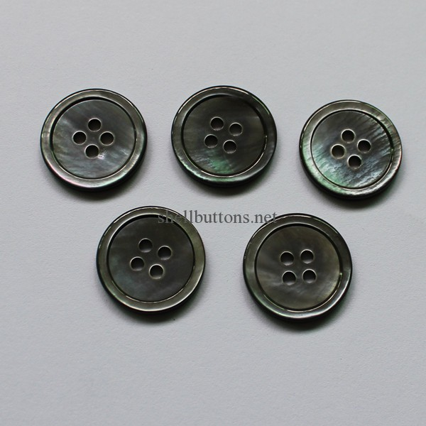 smoke mother of pearl buttons wholesale