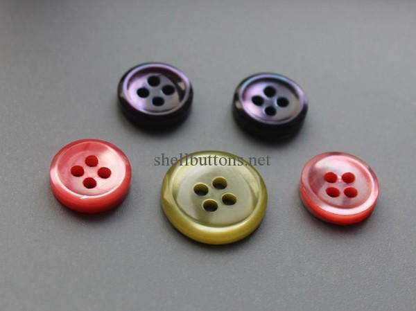 dyed trocas shell buttons bulk