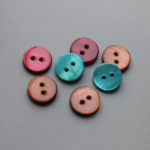 dyed color river shell buttons wholesale