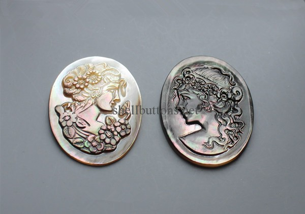 human head beauty head shell jewelry