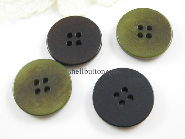 4 holes flat corozo buttons wholesale
