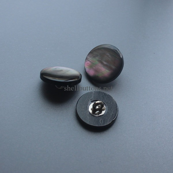 shank shell buttons with domed top